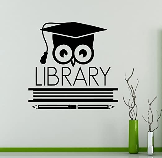 marvellous Library wall decal ll Home and decor Library wall sticker 40x40cm