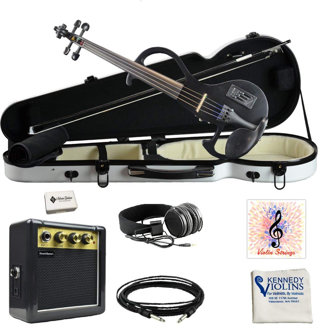 Bunnel EDGE Electric Violin in Hard Shell Case (Jet Black)