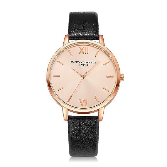 Yusealia Relojes Pulsera Mujer Hombres Despeje, Elegante Reloj Banda de Cuero Parejas Relojes para Negocio