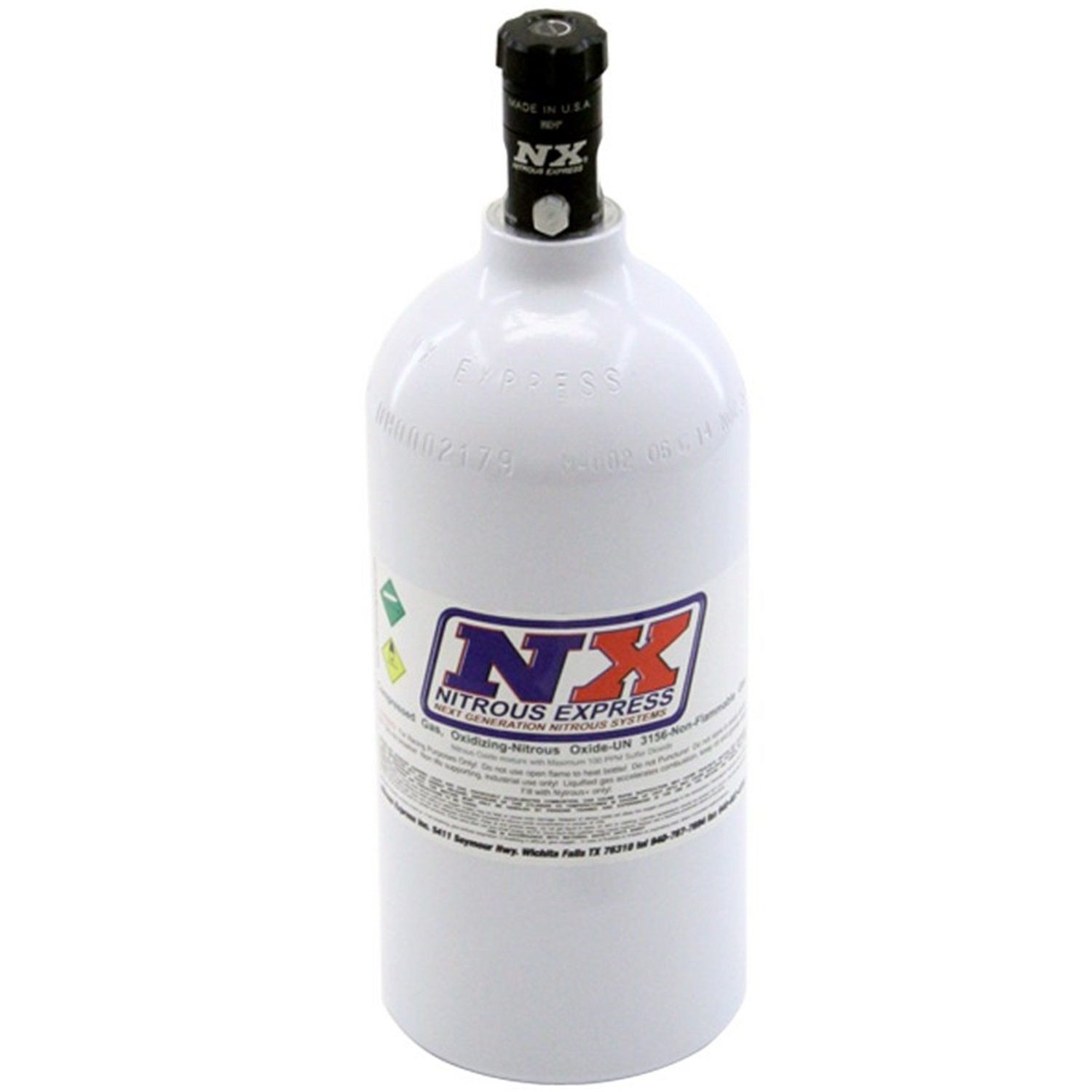 Nitrous Express 11025 Nitrous Bottle with Motorcycle Valve - 2.5 lbs. by Nitrous Express