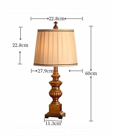 CJSHV-Lámpara de mesa Dormitorio Cama Americana Retro ...