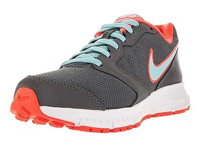 Nike New Womens Downshifter 6 Running Shoe Wolf Grey/Hyper Orange 10
