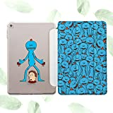 Rick and Morty Apple iPad Case with Magnetic Smart Cover Stand New iPad 9.7 inch 2017 Air 1 2 Mini 1 2 3 4 iPad 1 2 3 4 4th 5th generation Macbook Pro 9.7 10.5 12.9 inch Meeseeks t-shirt Cases is011