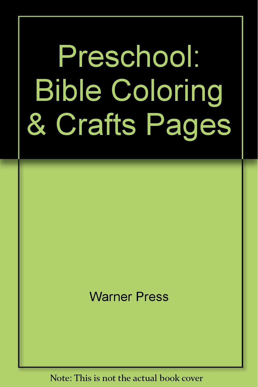 Preschool: Bible Coloring & Crafts Pages: 9780871628633: Amazon.com ...
