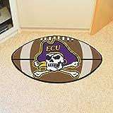 Football Area Rug w Official East Carolina University Logo In Team Colors