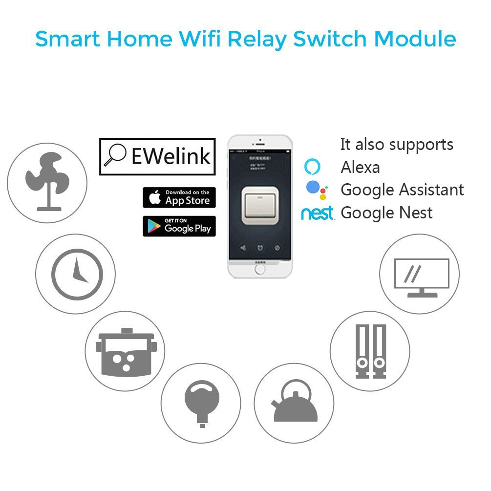 Whdts Wifi Momentary Inching Relay Delay Switch Module Low Power One Button On Off Smart Home Remote Control Dc 12v Compatible With Ios Andriod 2g 3g 4g Network Amazon