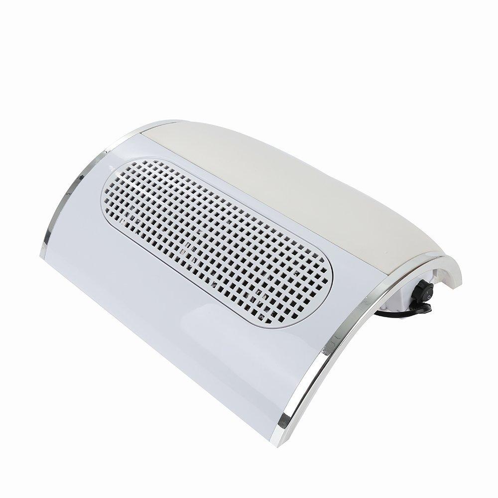 Crisnails® Aspiratore per unghie, Aspirapolvere per Manicure con 3 Motori e Aspirapolvere con Sacchetto