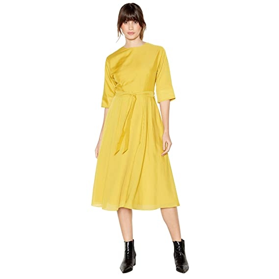 d8376fc413e6 Debenhams J by Jasper Conran Womens Yellow Pleated Belted Midi Dress 20  J  by Jasper Conran  Amazon.co.uk  Clothing