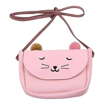 Lovely Kids Girl Small Cat Messenger Shoulder Bag Purses Crossbody Coin Pouch