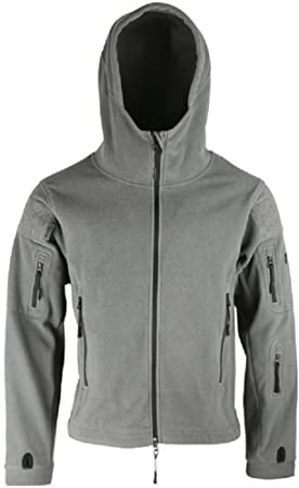 df8985346 Kombat Tactical Recon Fleece Hoodie Grey And Heavy Weight Thermal Double  Panelled Military Forces Airsoft Army
