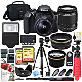 : Canon T6 EOS Rebel DSLR Camera with EF-S 18-55mm f/3.5-5.6 IS II Lens and Two (2) 32GB SDHC Memory Cards Plus Triple Battery Tripod Cleaning Kit Accessory Bundle