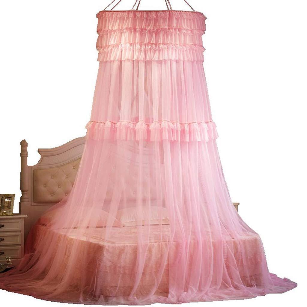 ネット糸ベッド無料インストール蚊帳いいえ皮膚刺激なし蚊よけベッドと寝室の装飾 (色 : Pink, サイズ さいず : XXL) B07NV8343B Pink XX-Large