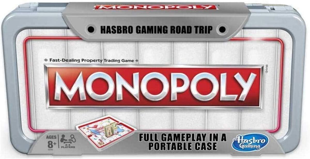 Hasbro Gaming Road Trip Series Monopoly Juego de Mesa portátil para Llevar sobre la Marcha para niños Mayores de 8 años: Amazon.es: Juguetes y juegos
