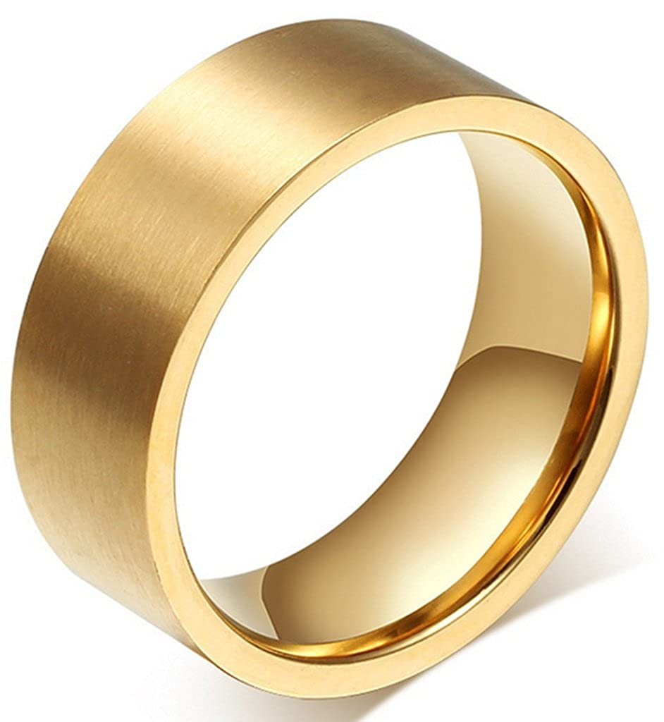 Size 4-15 AIDUO Stainless Steel 6mm Wide Ring for Men Women