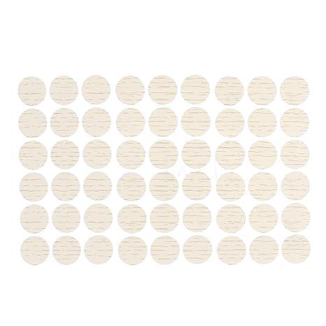sourcing map Auto-Adhesivo Cubre Tapas de Tornillo Pegatinas decoración 54-en-1