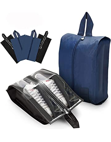 b2c0ff88874da AnpoleLife Travel Shoe Bags 4 Pcs, Waterproof Nylon with Zipper Shoe  Organiser Portable Storage Bags