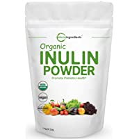 Organic Inulin FOS Powder (Jerusalem Artichoke), 1KG (35 Ounce), Inulin for Baking...