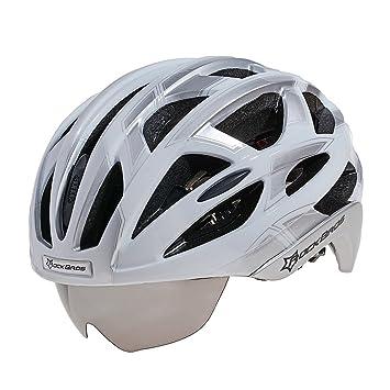 RockBros WT051 MTB Bicicleta de Carretera Casco con Ciclismo Gafas y 3 Lente (Color 4