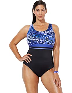 2d7db01d4a6 Swimsuits for All Women's Plus Size Printed One Piece Sport Swimsuit