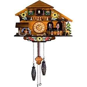 Kintrot Cuckoo Clock Pendulum Quartz Wall Clock Black Forest House Home Decor