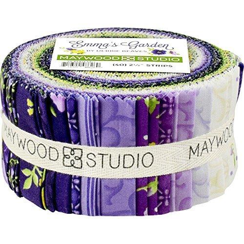 Debbie Beaves Emma's Garden Strips 40 2.5-inch Strips Jelly Roll Maywood Studio by Maywood Studio