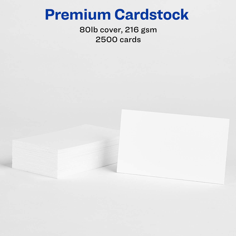 Avery Laser Visitenkarten 2 X 3 5 Inches Weiß Box Von