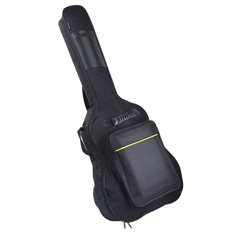 CAHAYA Housse de Guitaire en Nylon Oxford Etui pour Guitare Etanche avec  Poches Externes pour Guitaires Classique Acoustique Flamenco 39  40   41   bef147539b6