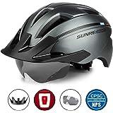 SUNRIMOON Adult Bike Helmet with Rechargeable USB Light
