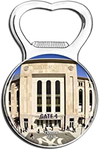 Weekino USA America Bronx Yankee Stadium Fridge Magnet Bottle Opener Beer City Travel Souvenir Collection Strong Refrigerator Sticker