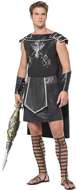 Disfraz para hombre, de gladiador sexy, color negro: Amazon ...