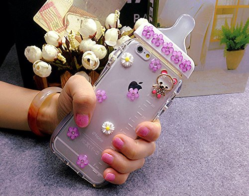 Flowers Feeding Bottle - iPhone 6 Plus/6S Plus Case, CoverProof Fashion Feeding Bottle Flower Bear Cover Cute Nipple-Shaped Shell Soft Transparent TPU Case for iPhone 6 Plus/6S Plus-Pattern 6