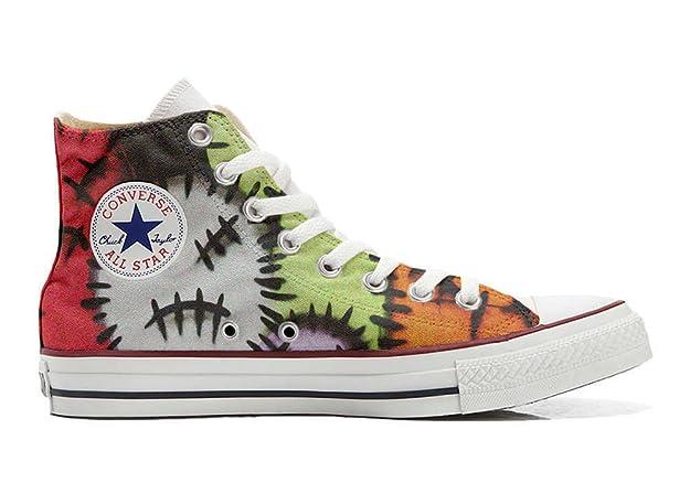 Converse Custom - personalisierte Schuhe (Handwerk Produkt) Brown Paisley  37 EU