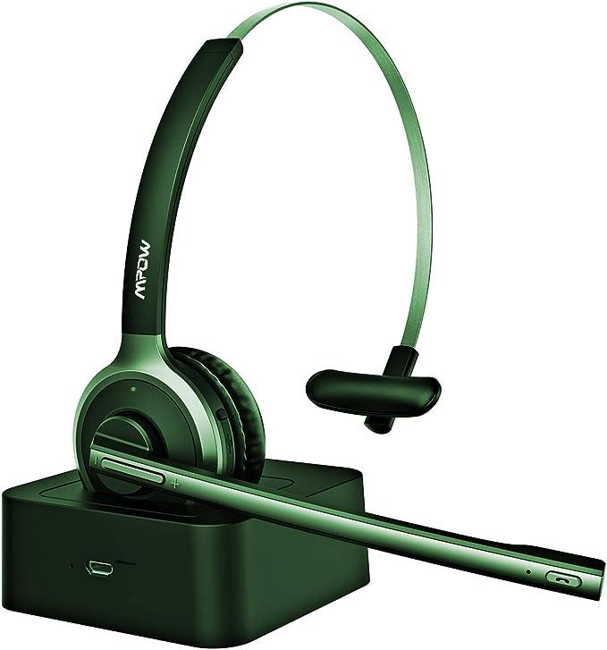 VicTsing Auriculares Bluetooth, Auriculares con Micrófono, Manos libres y Cancelación de Ruido Hasta 13 HORAS Conversación Teléfono Fijo, para PC, Móvil, Skype ect: Amazon.es: Electrónica