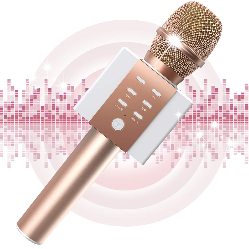 Bluetooth Handheld Karaoke Machine for Solo Singing Home Party TOSING Wireless Karaoke Microphone for Girls Top Birthday Mothers Day Gifts /& Creative Toys for 4 5 6 7 8 9 10 Years Old Kids Teens