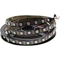 Hntoolight SK6812 WS2812B RGB 60 LED Strip Adresseerbare LED Strip Individuele Smart LED Strip Zwart PCB Geen…