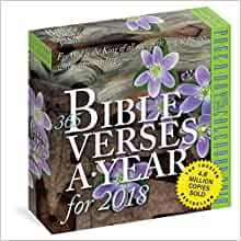 365 Bible Verses-A-Year Page-A-Day Calendar 2018: Workman ...