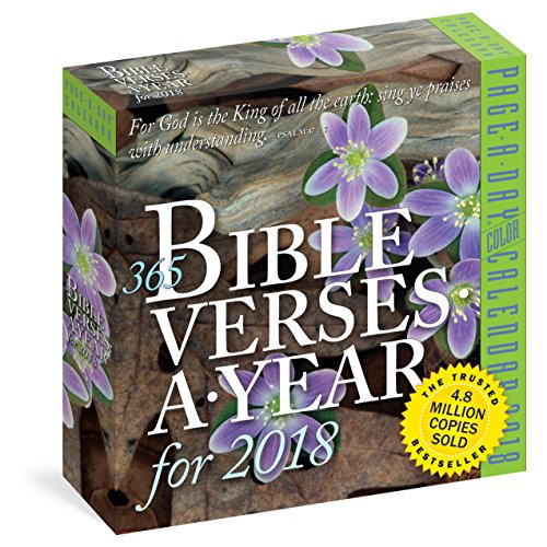 365 Bible Verses-A-Year Page-A-Day Calendar 2018 cover