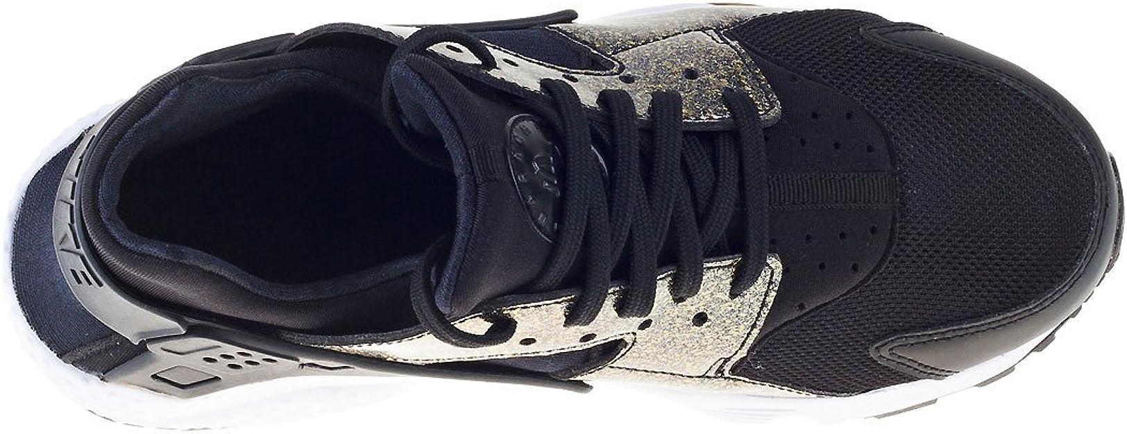 Zapatillas de running Nike Huarache Run SE (GS), (Negro / dorado ...