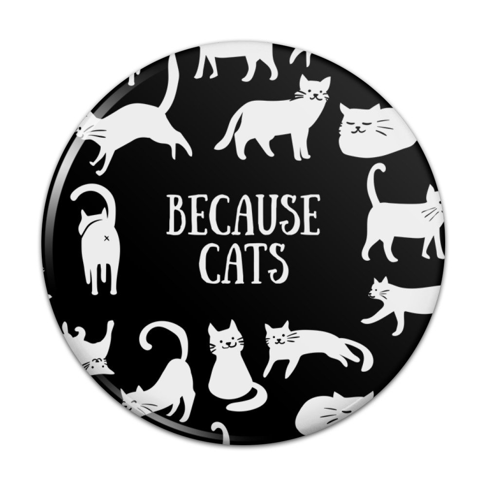 Because Cats Funny Kitties Lounging Around Compact Pocket Purse Hand Cosmetic Makeup Mirror - 3 Diameter Graphics and More