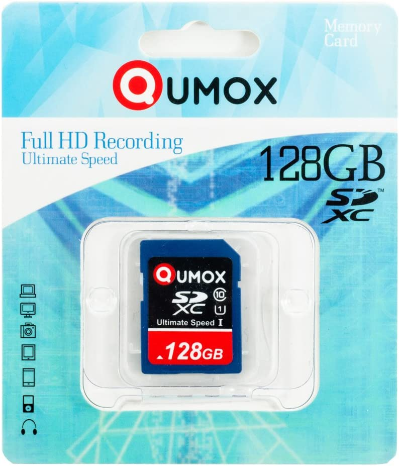Qumox 128gb Sdxc Memory Card Class 10 Uhs I Grade 1 Computers Accessories