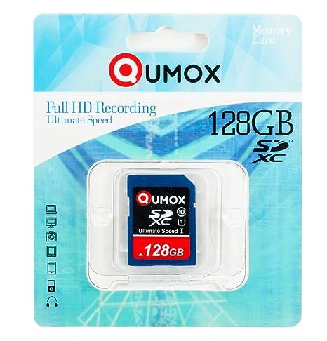 QUMOX 128GB SDXC Tarjeta SD Card class10 UHS-I Grade 1