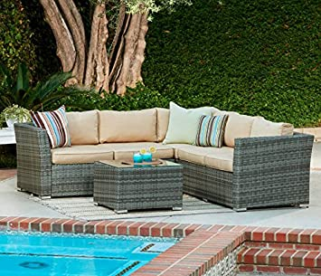 Garden Furniture Vancouver Vancouver rattan corner sofa patio conservatory sofa set grey vancouver rattan corner sofa patio conservatory sofa set grey workwithnaturefo