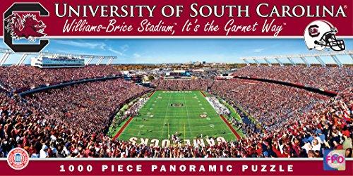MasterPieces NCAA South Carolina Gamecocks Stadium Panoramic Jigsaw Puzzle, 1000-Piece