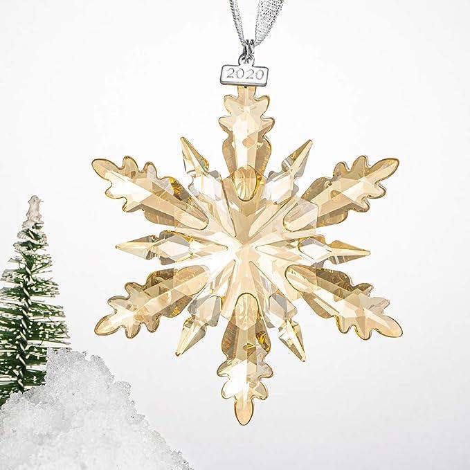 Ice Angel Christmas Ornament Blu Crystal Snowflake Annual Winter Star Pendant
