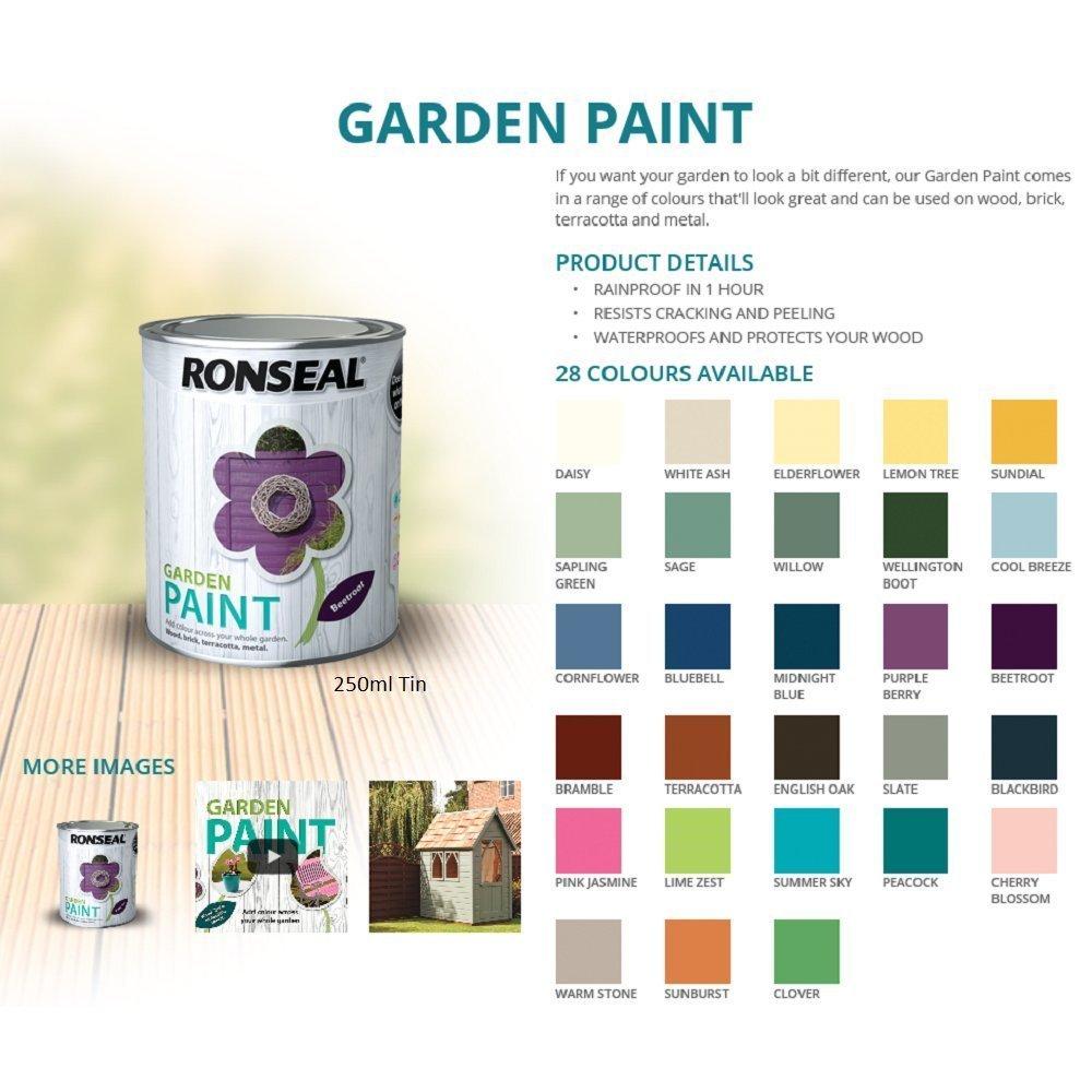 Ronseal RSLGPWS750 750 ml Garden Paint - Warm Stone