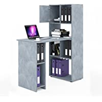 VICCO Schreibtisch Regalkombination 144cm Höhe Arbeitstisch Regal Ordner Akten Büro PC-Tisch - perfekt für das Arbeitszimmer