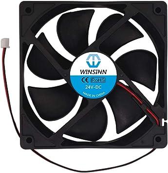 WINSINN 12025 12V 24V DC Ventilador de refrigeración sin ...