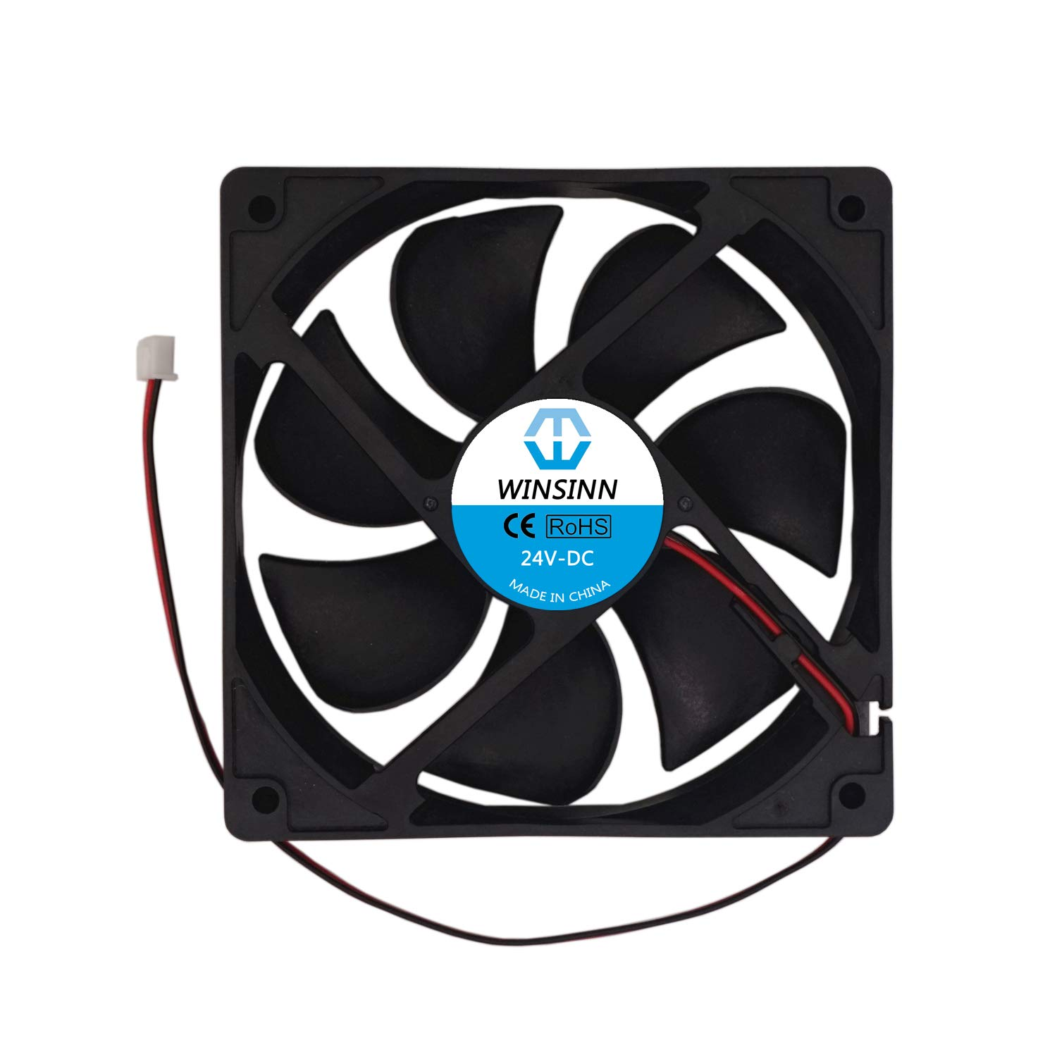 WINSINN 120mm Fan 24V Brushless 12025 120x25mm for Cooling PC Computer Case CPU Coolers Radiators - 2Pin