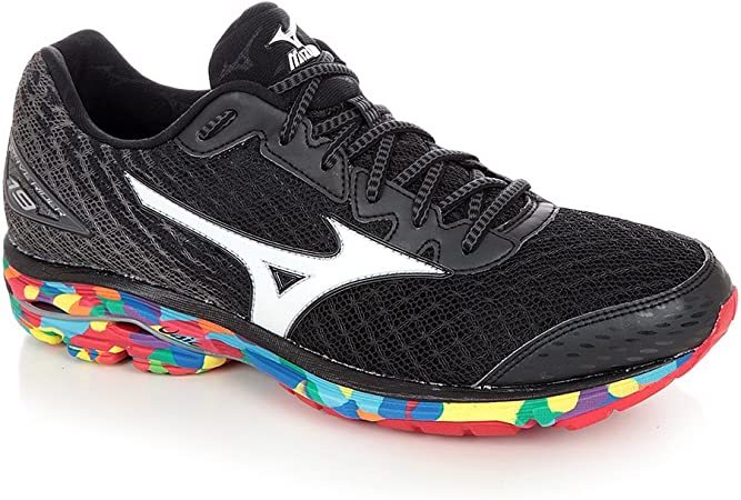 Zapatilla Wave Rider 19 (Osaka) Black-White-Black Talla 11 UK: Amazon.es: Deportes y aire libre