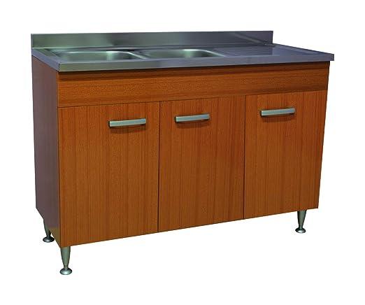 Arredobagnoecucine Mueble de Cocina Teca de 3 Puertas con ...